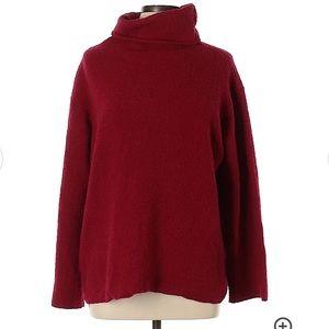 Eileen Fisher Wool Mock Neck Sweater